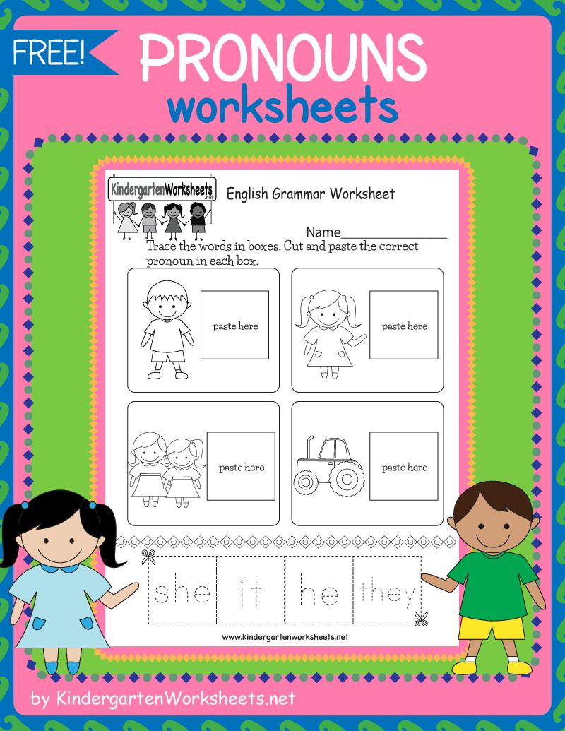 Kindergarten Pronouns Worksheets English Grammar Worksheets Grammar Worksheets Free Pronoun Worksheets [ 1035 x 800 Pixel ]