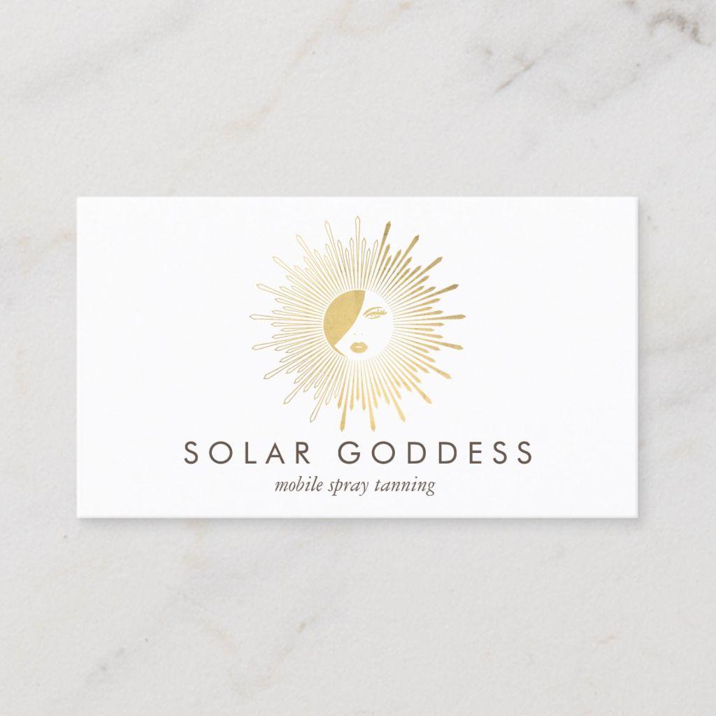Sun Goddess Girl Logo Spray Tanning Salon Business Card Zazzle Com Salon Business Cards Pink Business Card Spray Tan Salons