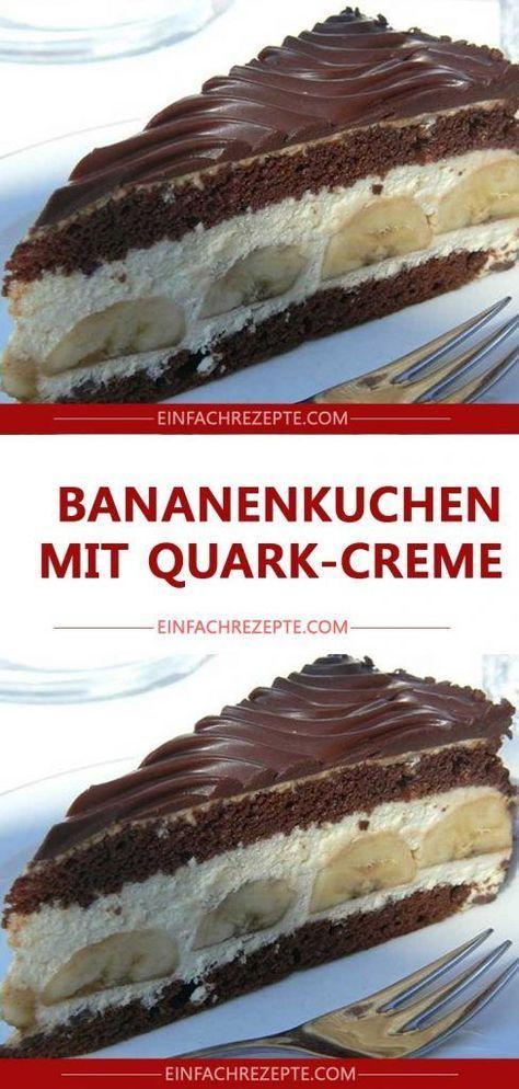 Bananenkuchen mit Quark-Creme