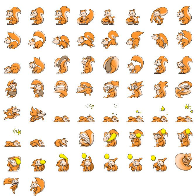 2d Character Design Books : Squirrel sprite sheet game design pinterest
