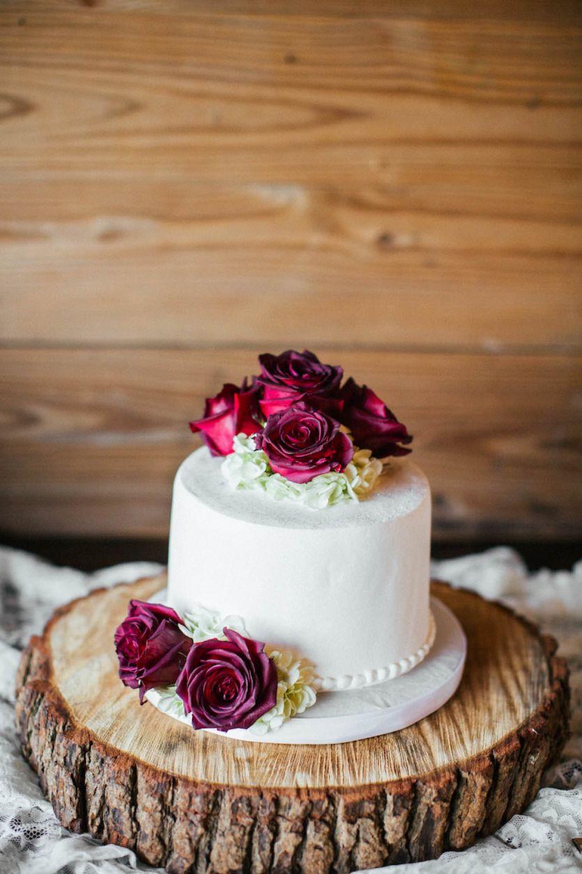 Romantic, Fall Inspired Tampa Bay Wedding Tiered wedding