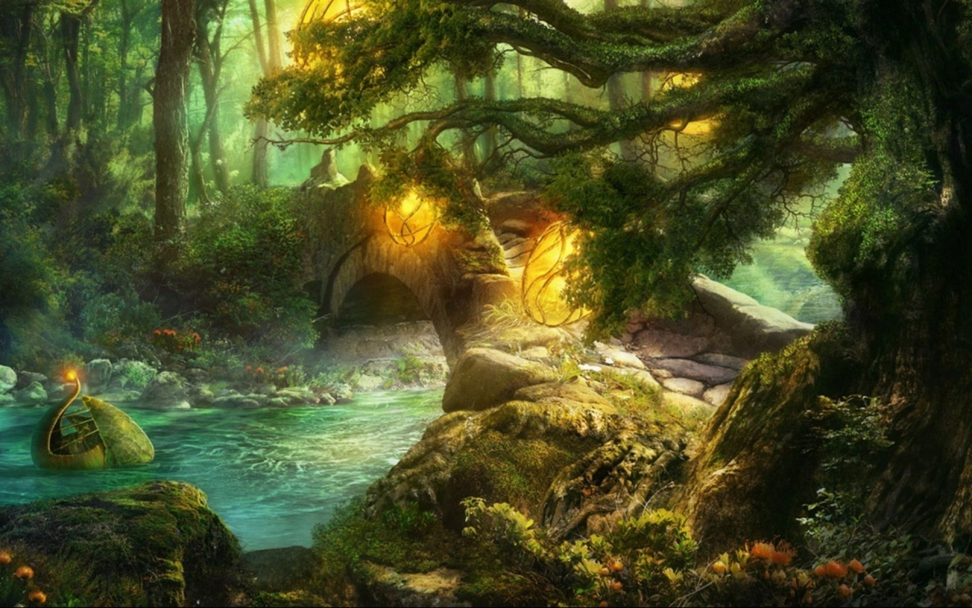 Pictures of forests magic forest desktop wallpaper - Art village wallpaper ...