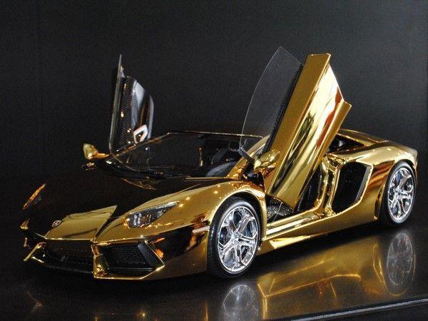 $7.5 Million Dollar Gold Lamborghini Aventador #lamborghinisestoelemento