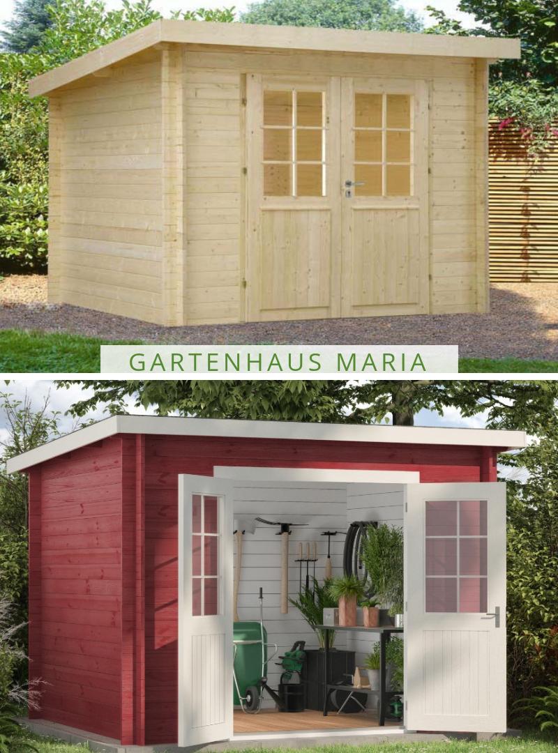 Pultdach Gartenhaus Modell Maria Das moderne und