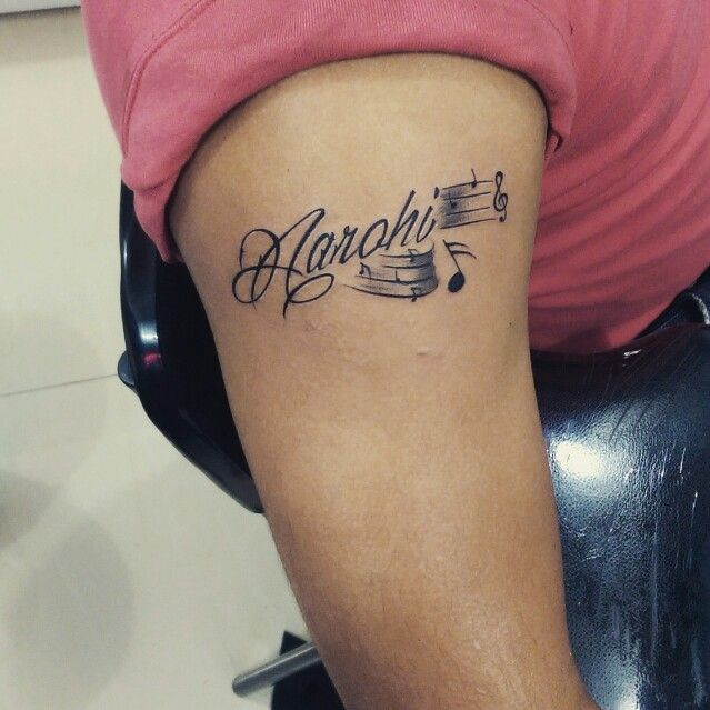 Clients Daughter Name With Musical Notes Done At Mehz
