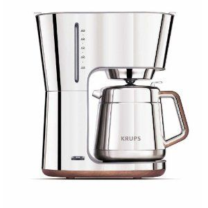 Krups Kt600 Silver Art Collection 10 European Cup Thermal Carafe Coffee Maker Stainless Steel
