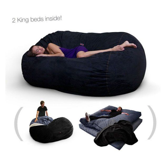 Corda Roy S Double King Size Convertible Foam Bean Bag Bed In Micro