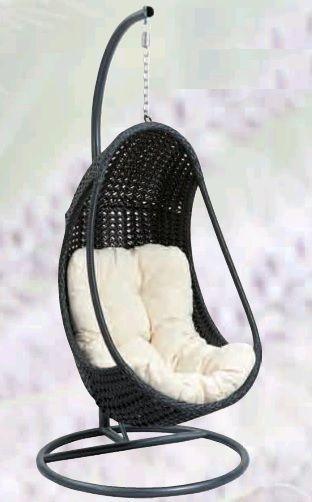 Tuinstoel Hangend Ei.Egg Chair Wicker Hangstoel Mooie Lounge Egg Chair Slaapkamer