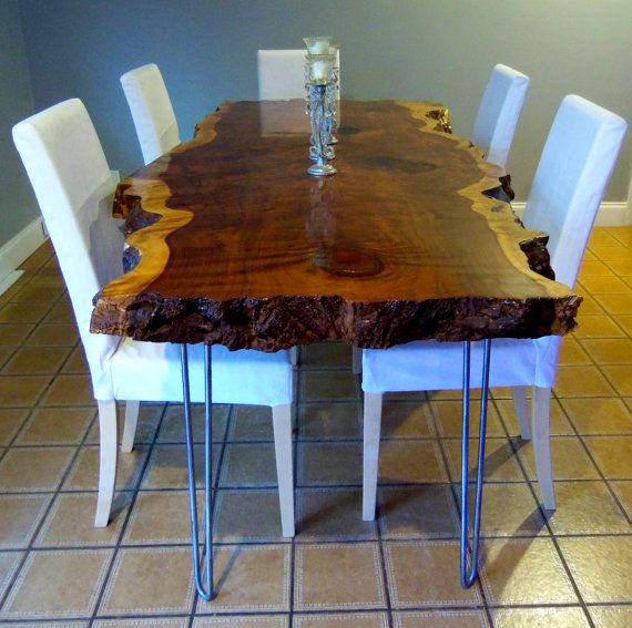 Live Edge Dining Table Redwood Dining Table Wood Slab Dining Table Live Edge Table Live Edge Slab Table Wood Dining Table 29 In 2020 Wood Slab