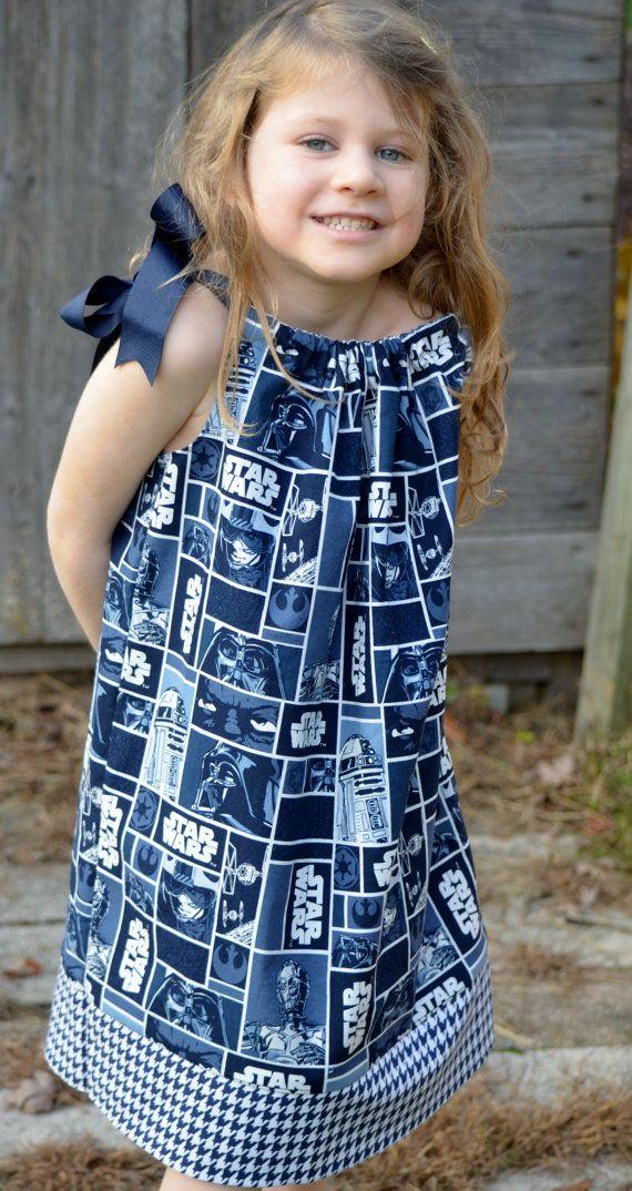 Star Wars Dress Little Girl Pillowcase Dress Inspired By the Trilogy $19.00