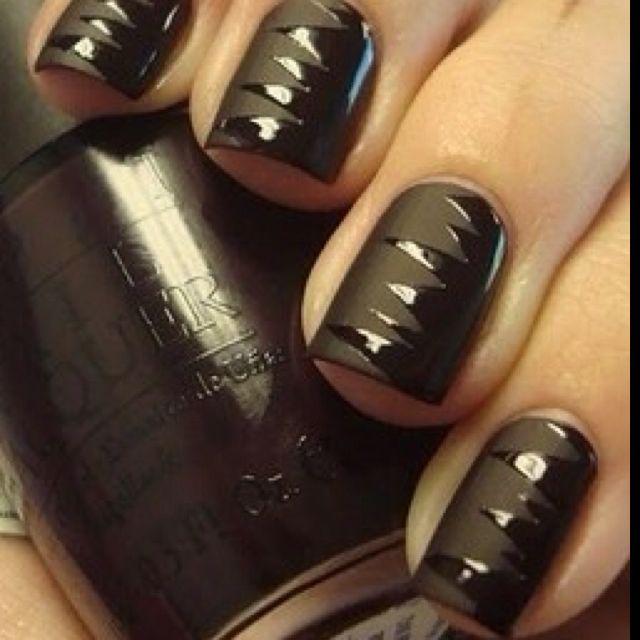 OPI flat black   In style   Black nails, Matte nails ...