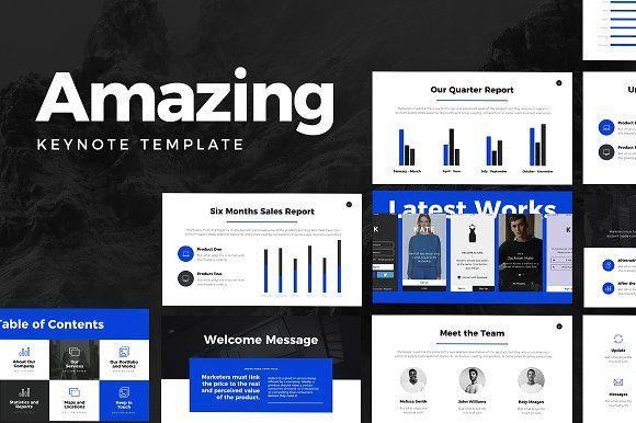 amazing keynote template by slideforest on creativemarket design