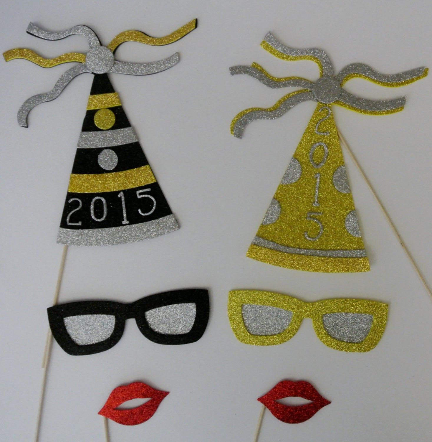 New Years Photo Booth Props 2015 Glasses And  2015