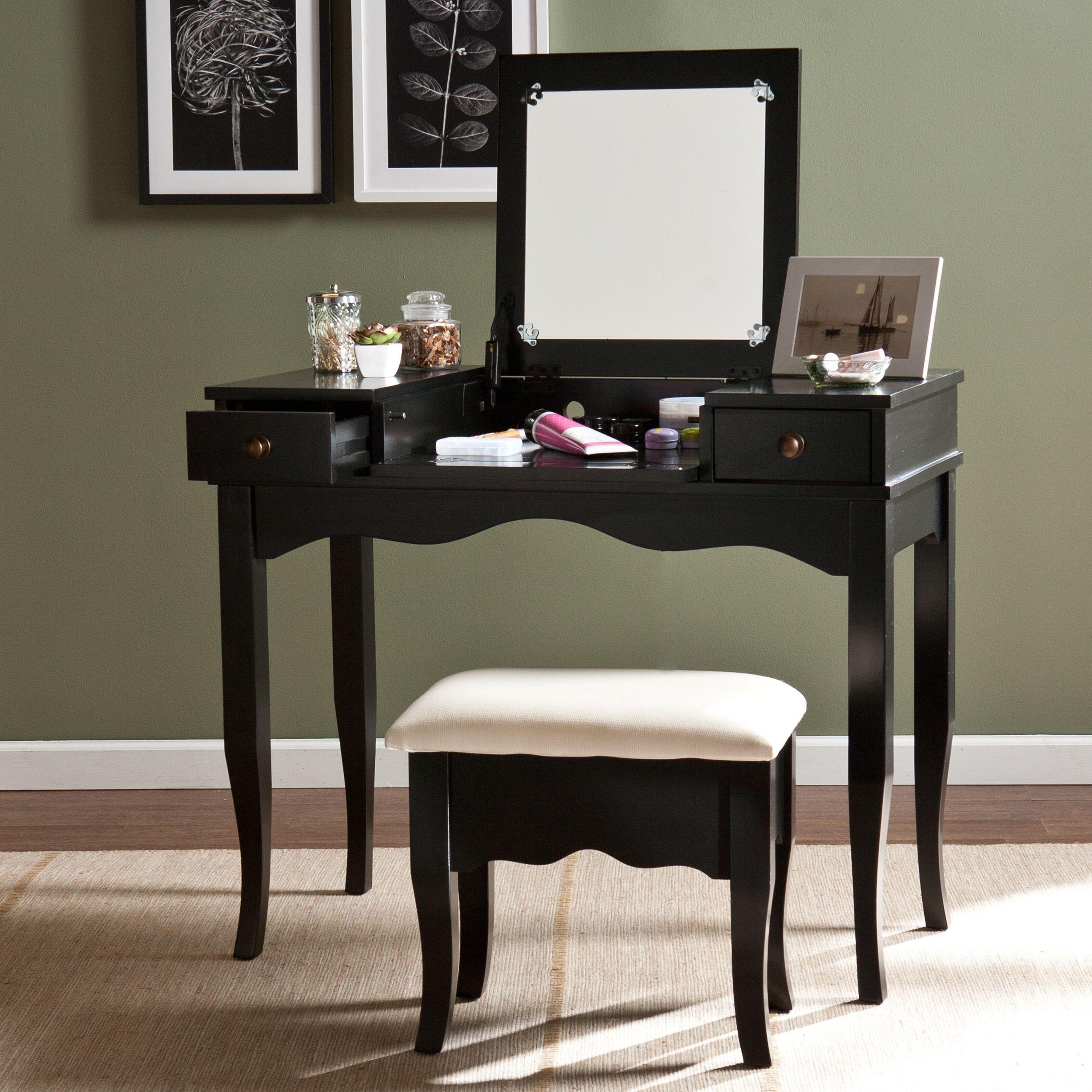 Harper Blvd Eliza Vanity Bench Set (Os5857Vn), Black