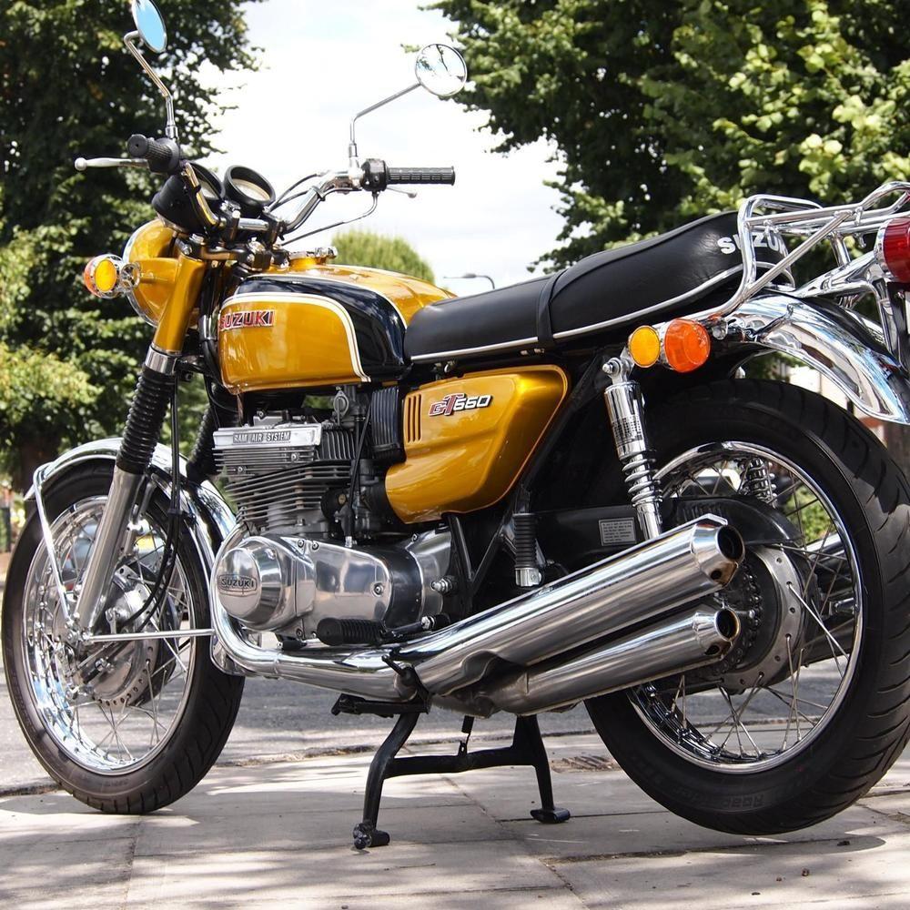 Ebay 1972 Suzuki Gt550 J Classic Vintage Genuine Rare Numbered Immaculate Motorcycle Motorcycles Biker Suzuki Motorcycle Style Classic