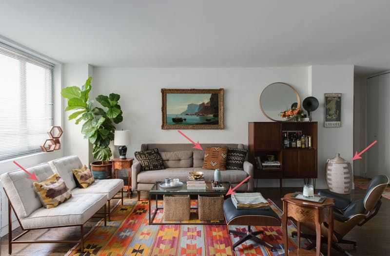 The Secret to Beautiful Living Rooms Is This Design Method Living