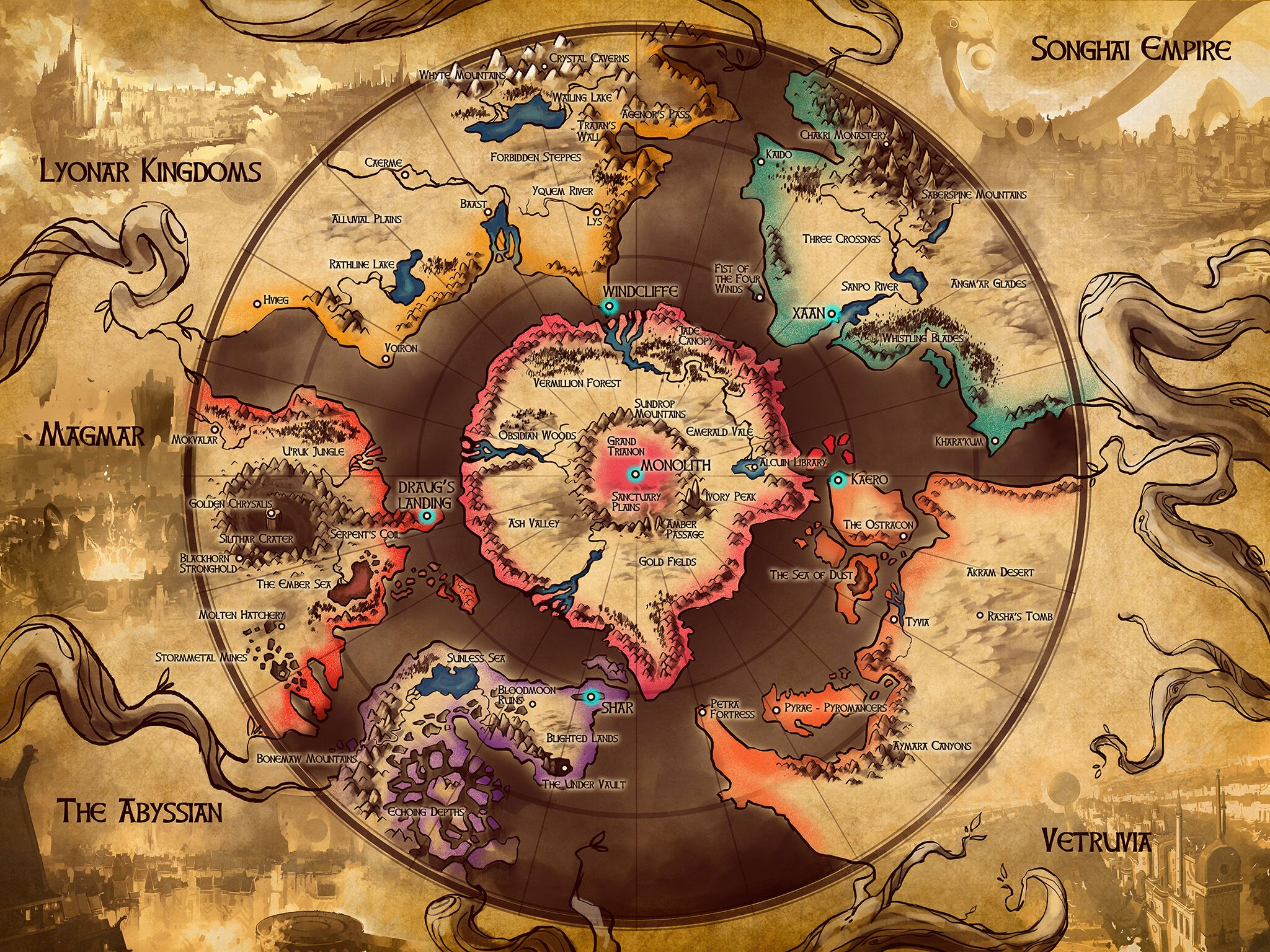 Eyos world map duelyst environments pinterest environment eyos world map gumiabroncs Choice Image