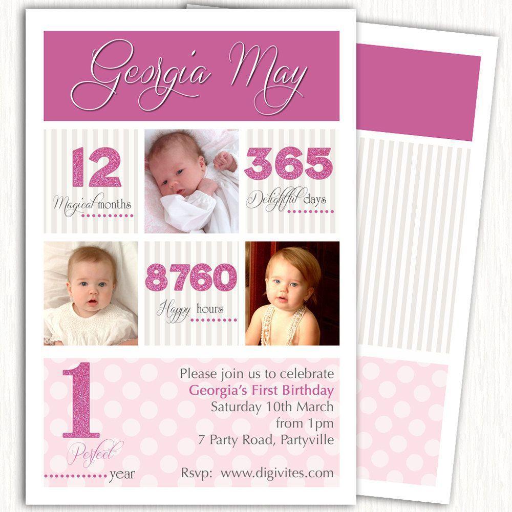Awesome Einladungskarten Zum 1 Geburtstag #5: Einladungskarten Geburtstag : Einladungskarte 1 Geburtstag - Einladung Zum  Geburtstag - Einladung Zum Geburtstag