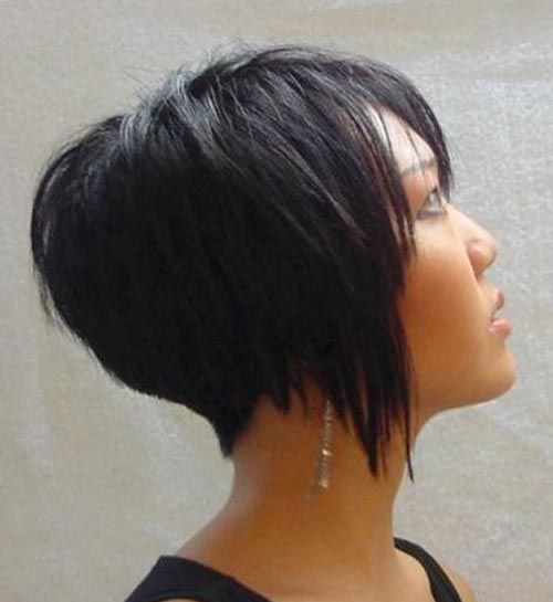 Back view of short layered hair  hair  Pinterest  Bobs Pixie