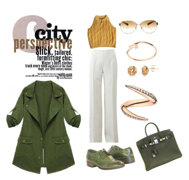 """""""Chill Day"""" by blackorchid811 ❤ liked on Polyvore featuring Michael Kors, Hermès, Ray-Ban, Cartier, Allurez, Shaun Leane and Versace"""