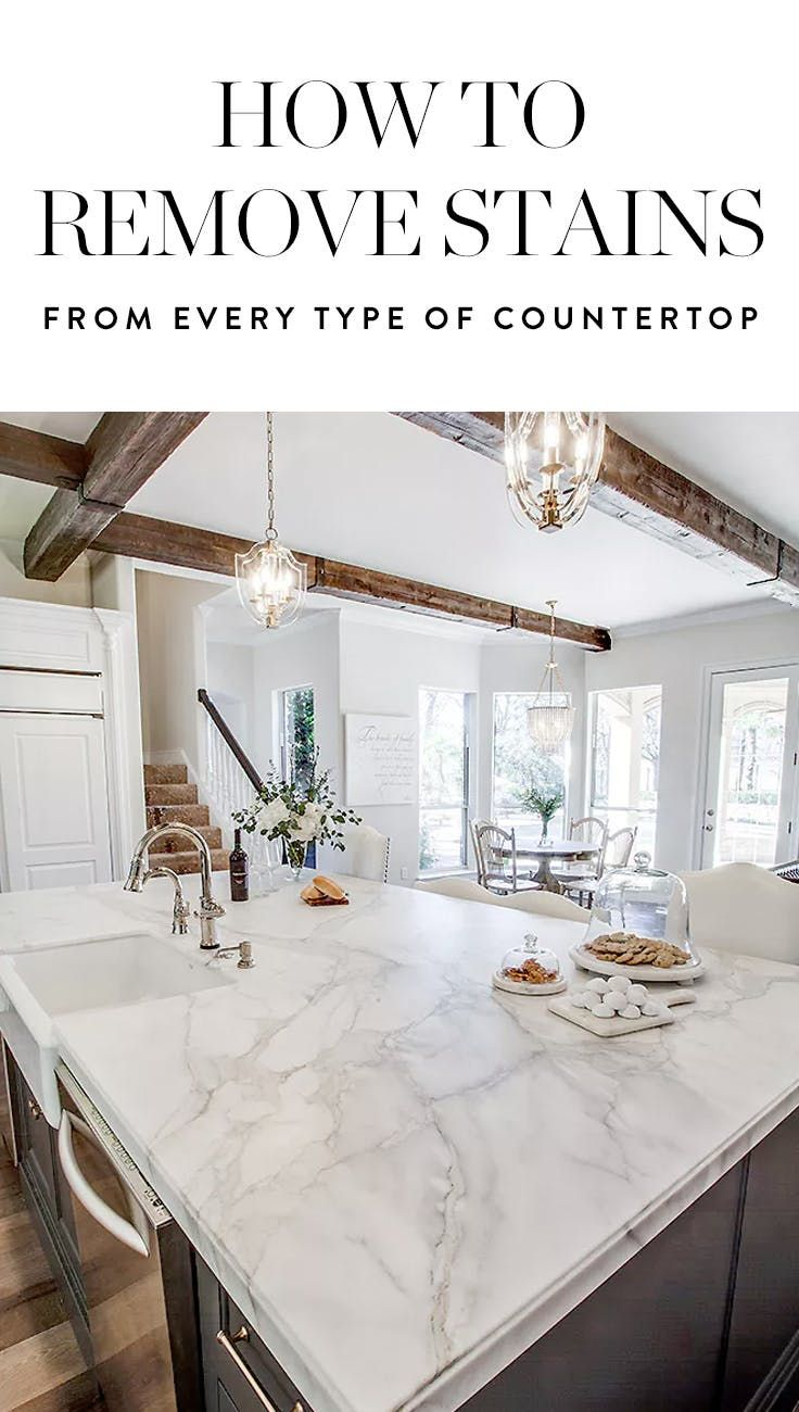 How To Remove Stains From Every Single Type Of Countertop