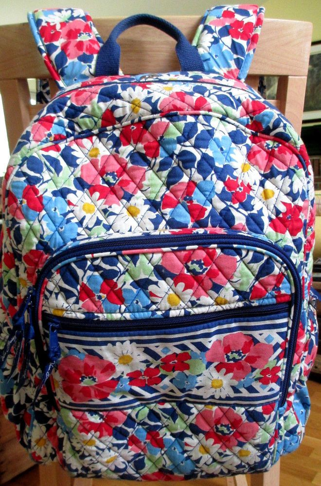 facac60a43 Vera Bradley Summer Cottage Laptop Backpack Retired Pattern 16