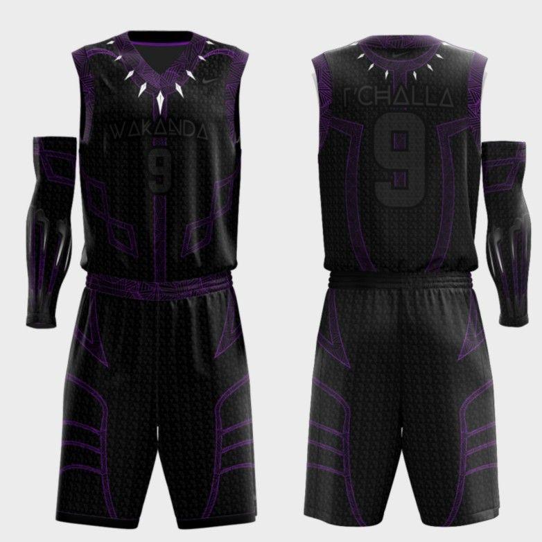 e3c61bcc7f4 Wakanda Concept Basketball Uniforms