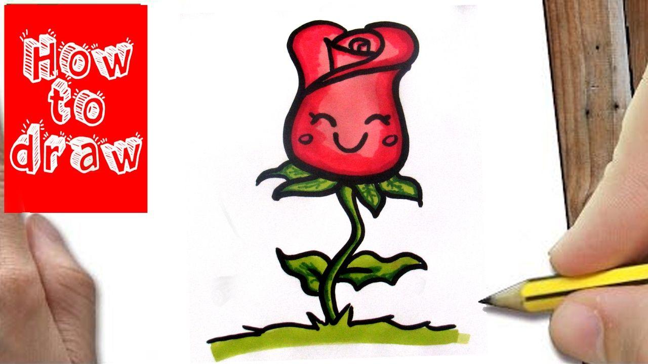 Nieuw Hoe Teken Je Een Roos? Leren tekenen voor beginners | Leer tekenen VD-07