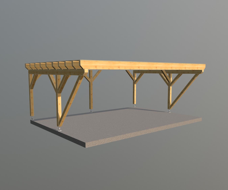 Holz carport 7m x 5m, carports aus polen, gartenhaus aus
