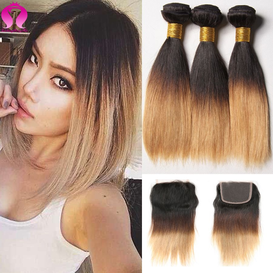 Blonde bundles short human hair with closure human hair extensions price tracker and history of blonde bundles short human hair with closure human hair extensions 4 bundles with closure blonde brazilian virgin hair straight pmusecretfo Gallery