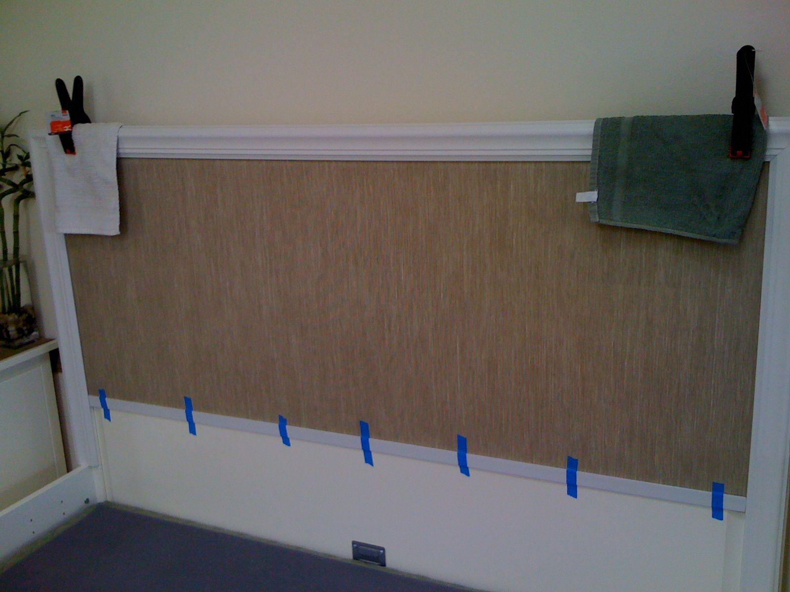 Classic grasscloth headboard Ikea headboard, Wallpaper
