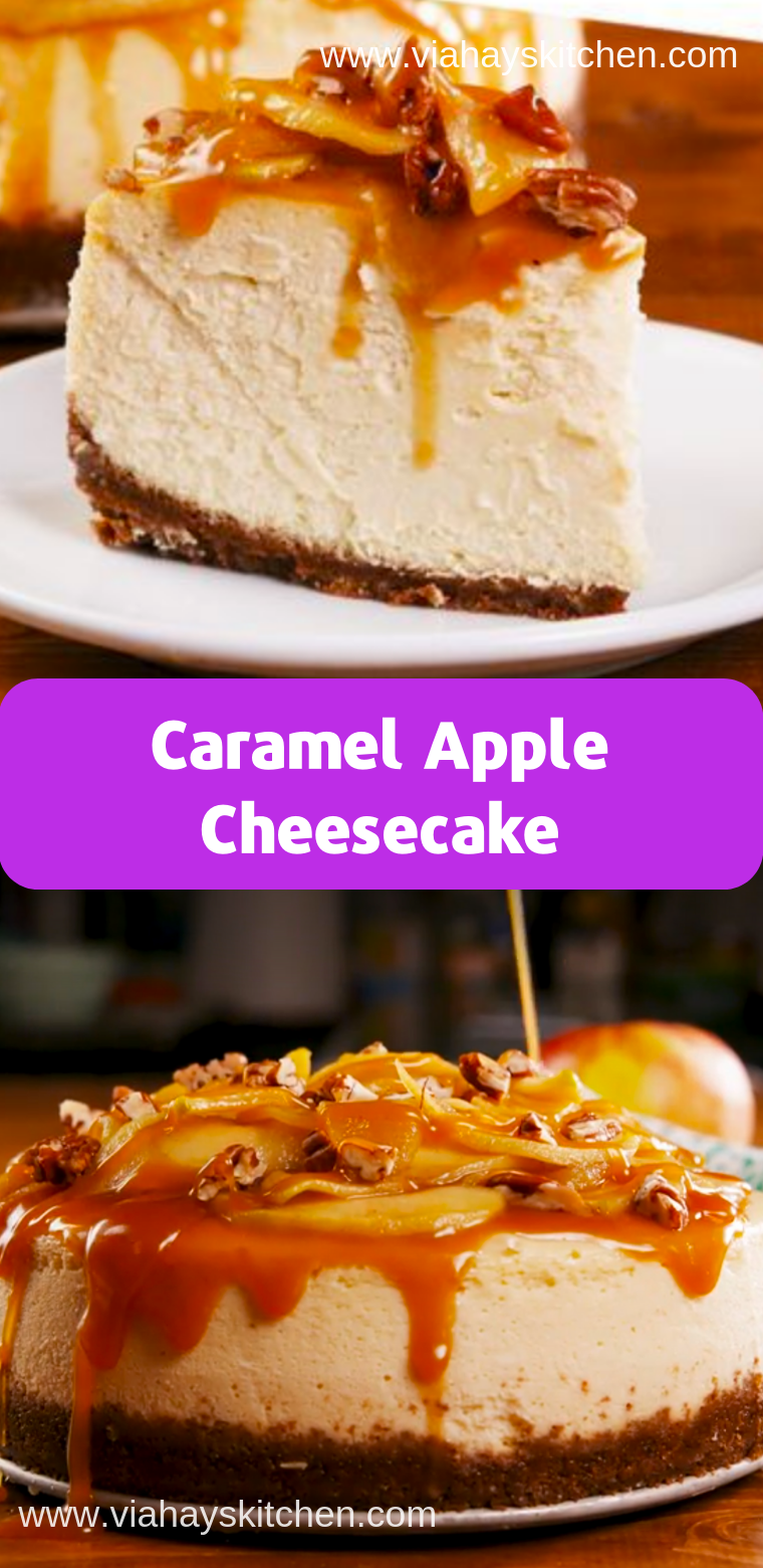 Caramel Apple Cheesecake ( Desserts, Cakes )