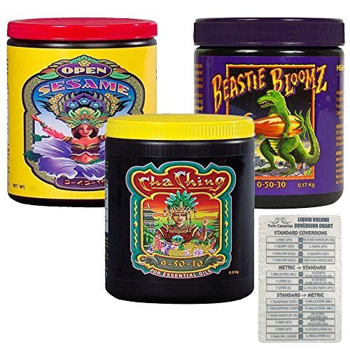 Gardening Foxfarm Nutrients Soluble Trio Pack Open Sesame Beastie Bloomz Cha Ching Bundle Twin Canaries Chart 6 Ounce Mulching Garden Essentials Garden Soil