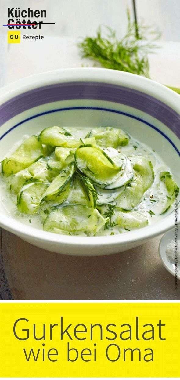 klassischer gurkensalat salatrezepte eine gurke ein