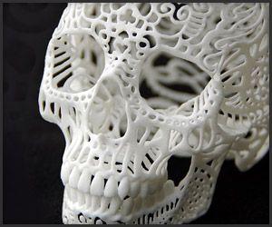 3D Printed Filigree Skulls