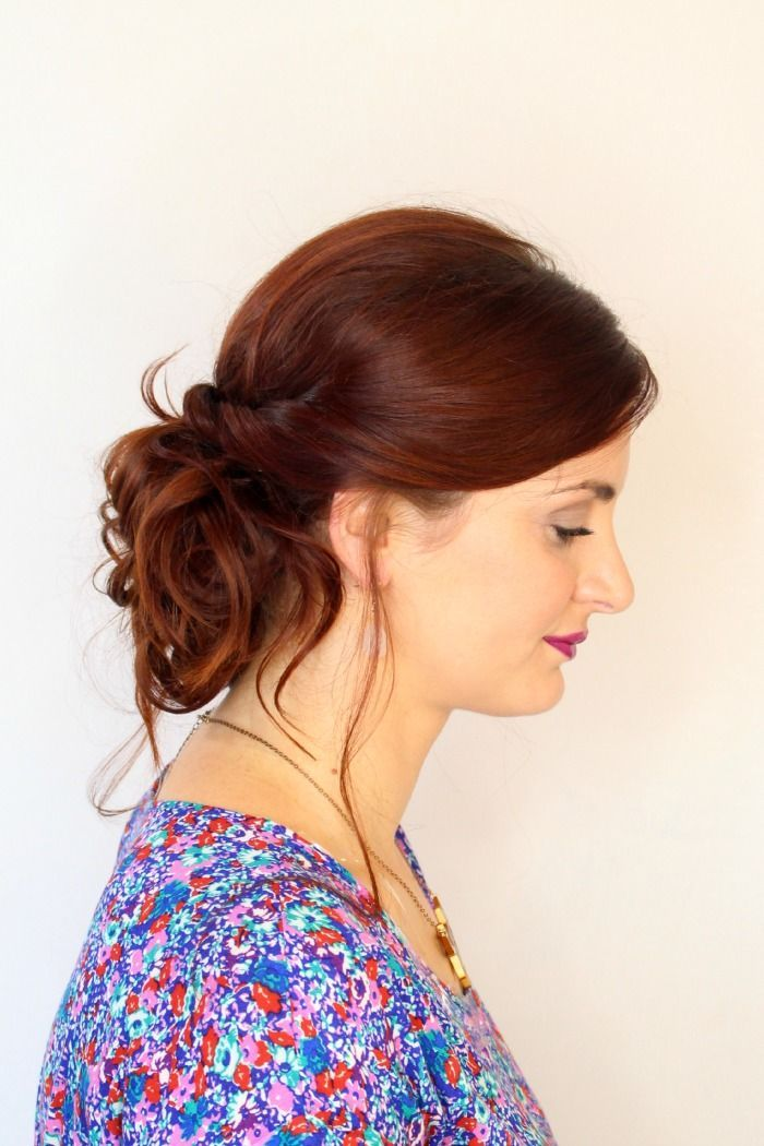 the easier-than-it-looks messy updo! #updotutorial messy