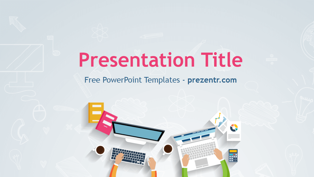 Free IT PowerPoint Template Prezentr PowerPoint