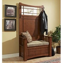 Best Of Mission Hall Tree with Storage Bench