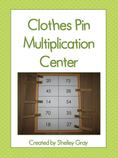 Classroom Freebies: Clothes Pin Multiplication Center...could make one for addition and subtraction for lower grades