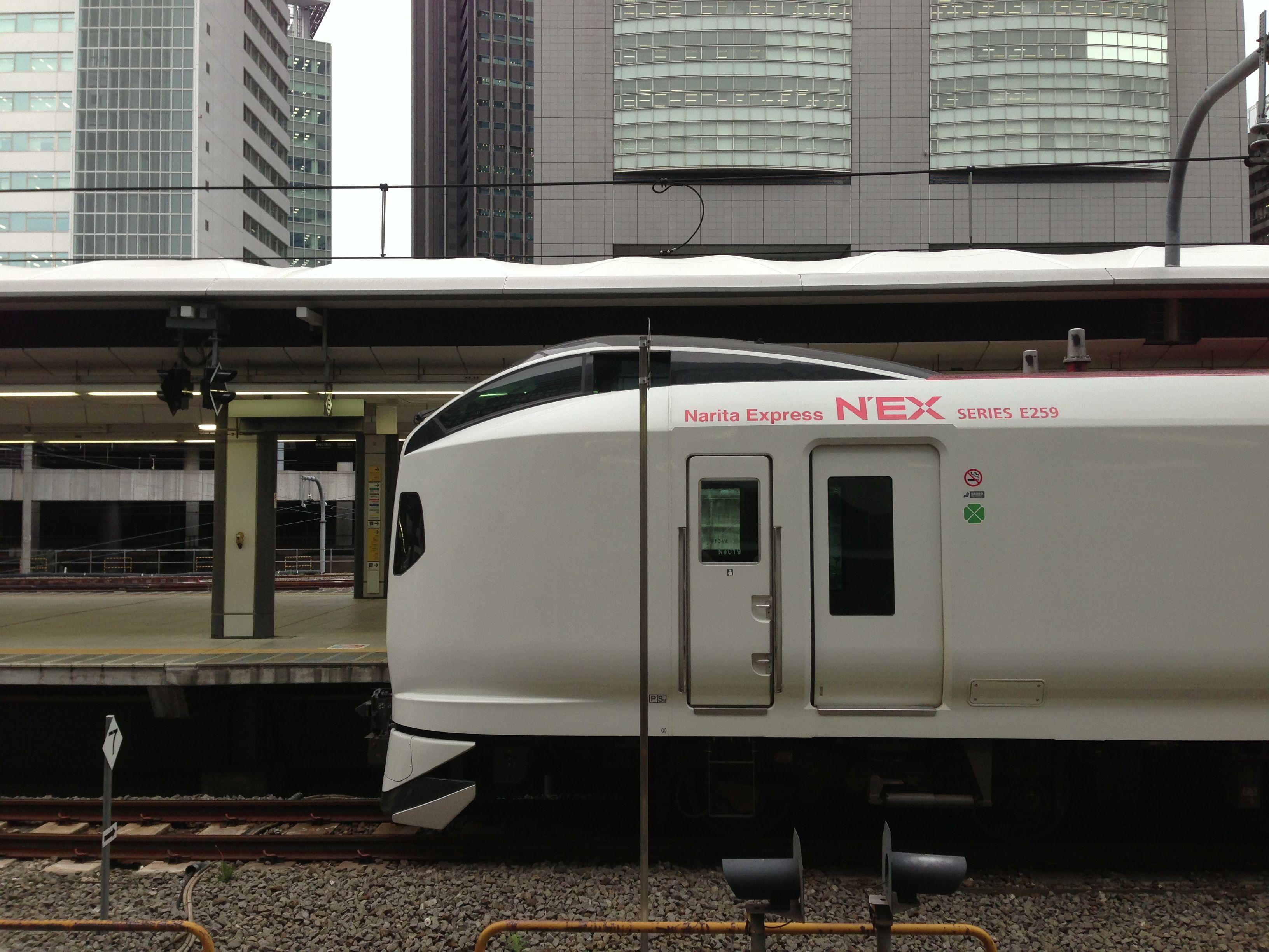 The Narita Express between Shinjyuku station to Narita airport.