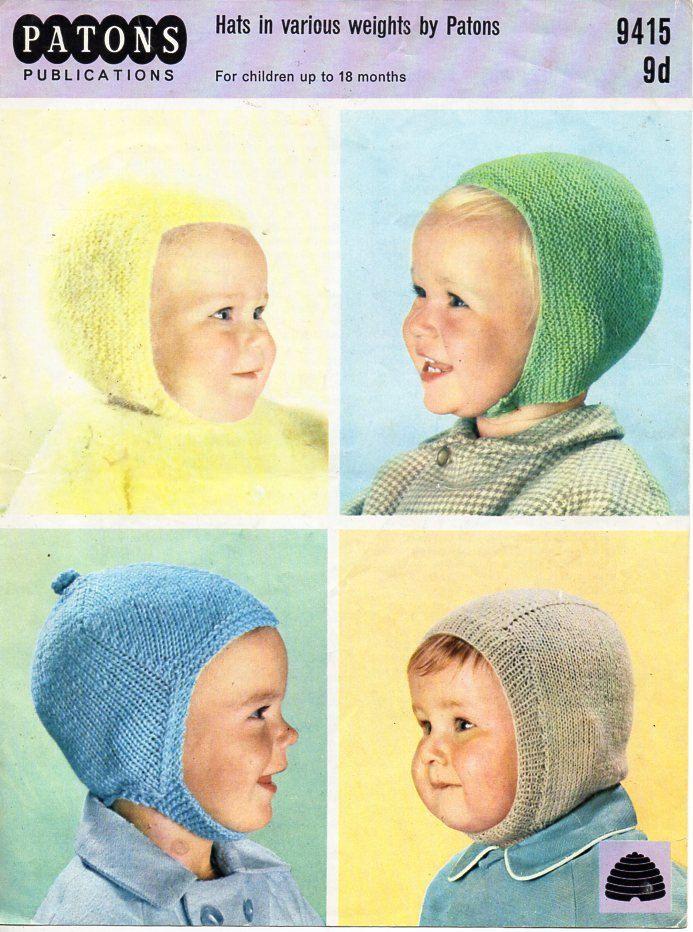 baby hats knitting pattern PDF 3ply / DK baby bonnets helmets ...