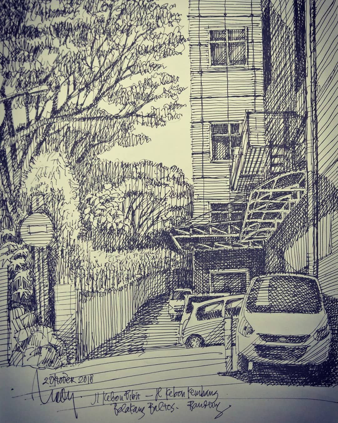 Inktober2 Jalan Penghubung Jl Kebon Kembang Jl Kebon Bibit Di Kolong Baltos Pasopati Bandungjuara Inktober Inktober2018 In Inktober Instagram Aerial