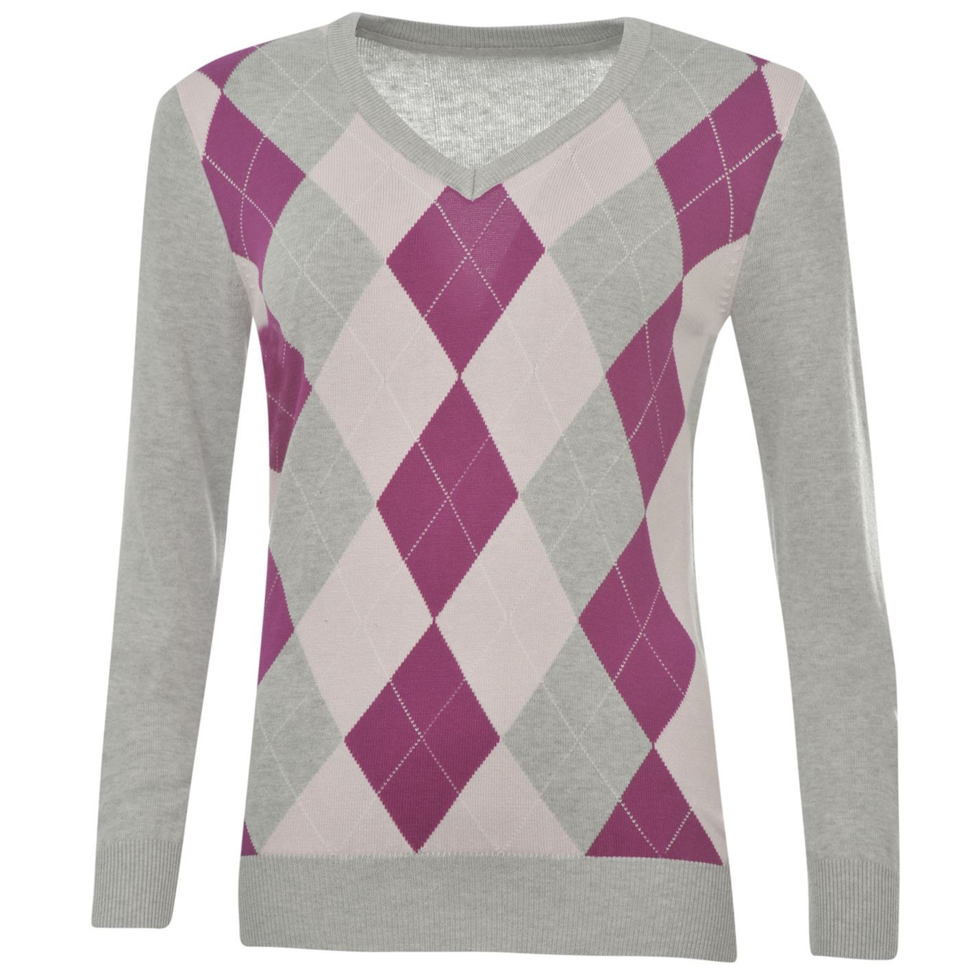 Slazenger | Slazenger Argyle Golf Sweater Ladies | Ladies Sweaters ...