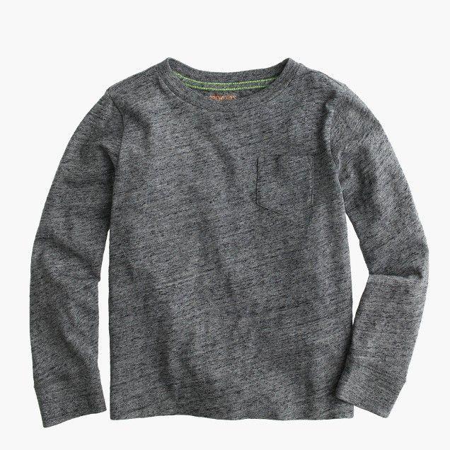 slub long-sleeve pocket t-shirt | crewcuts