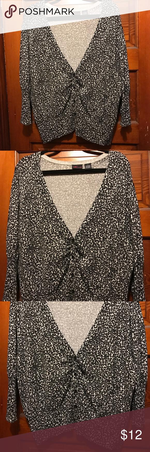 Torrid Black & White Leopard print cardigan