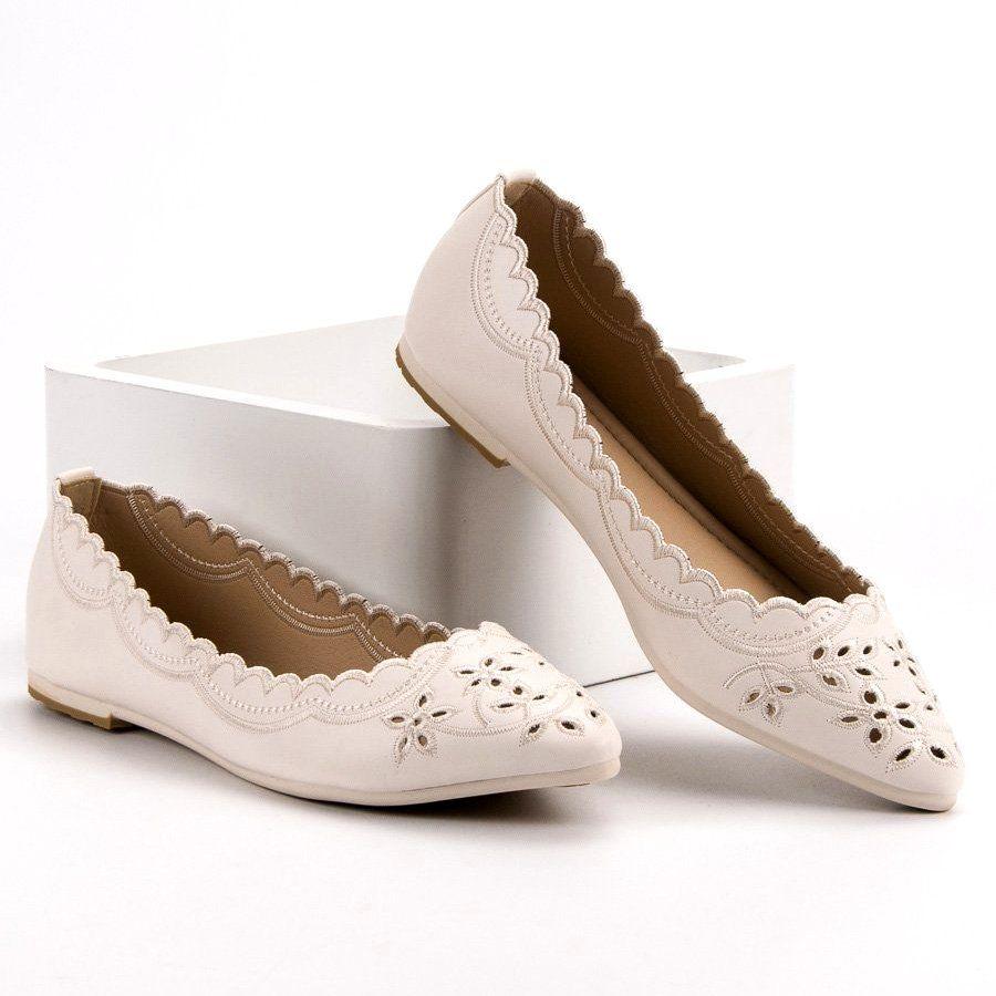 Baleriny W Szpic Vices Brazowe Women S Slip On Shoes Block Heels Pumps Slip On Shoes