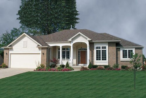 Dbi2461 The Shawnee At Menards Traditional House Plans Country House Plan House Plans