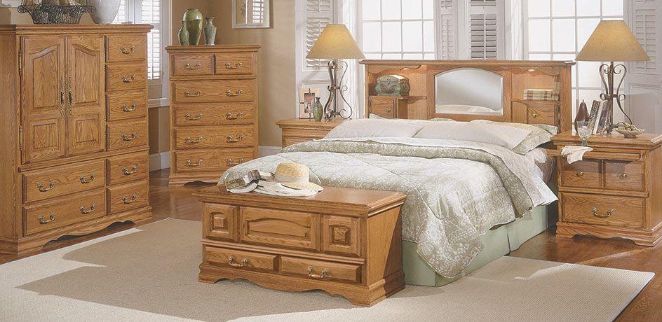 Nostalgia Oak Bookcase Headboard Bedroom Suite Suites In Arizona Master