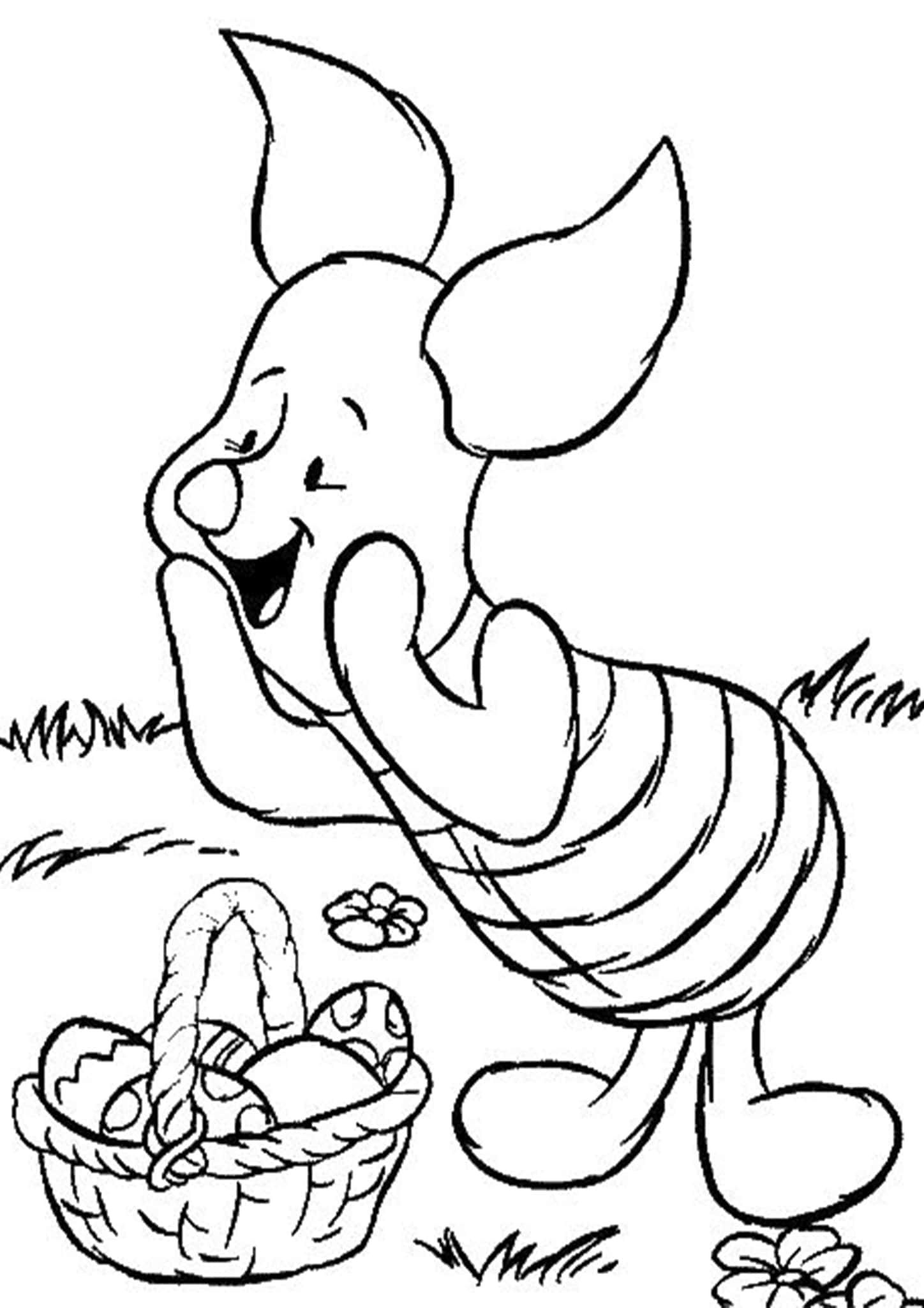 Free Easy To Print Winnie The Pooh Coloring Pages Easter Coloring Pictures Easter Coloring Pages Disney Coloring Pages