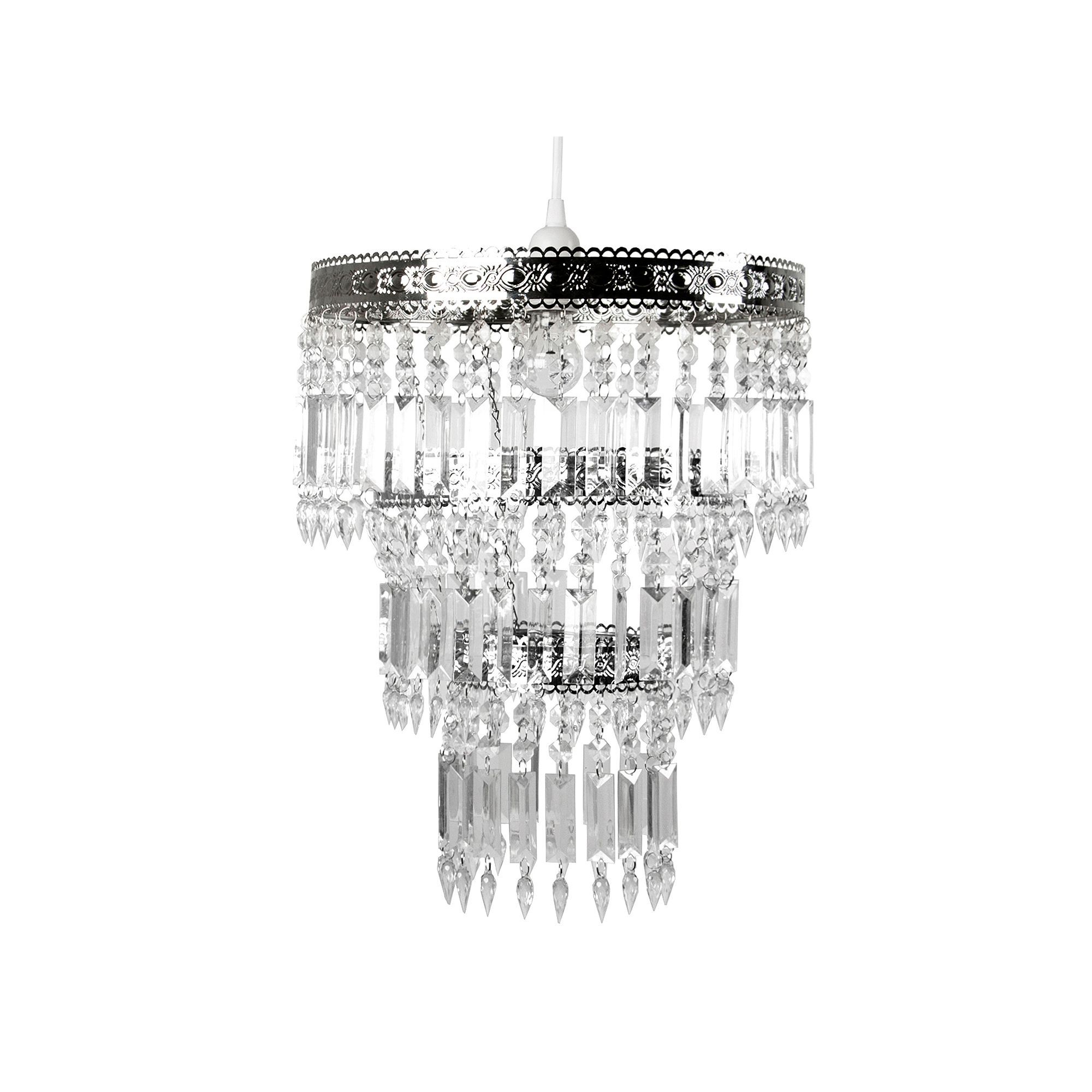 Tadpoles Large Faux Crystal Chrome Queen S Crown Pendant Chandelier Light Fixture Shade Light Shades Pendant Light Fixtures Beaded Chandelier